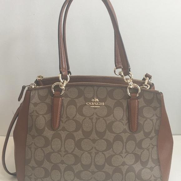 a0e3b2ed07d2c Coach Handbags - COACH Signature CHRISTIE Small Carryall Leather